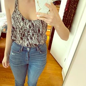 Forever21 - Blue/Black Strappy Blouse - Small
